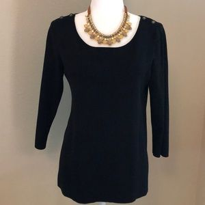 Banana Republic 3/4 Sleeve Size M Black Blouse